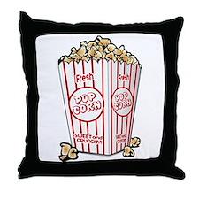 Movie Popcorn Throw Pillow