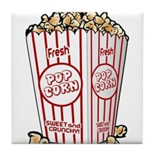Movie Popcorn Tile Coaster