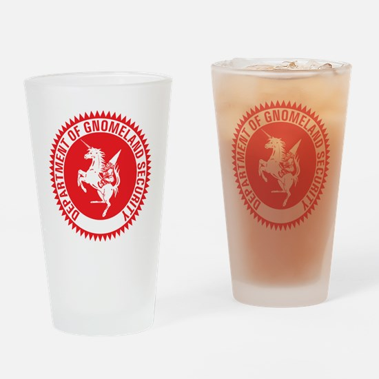 GNOMELAND SECURITY Drinking Glass
