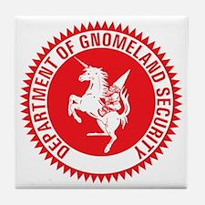 GNOMELAND SECURITY Tile Coaster