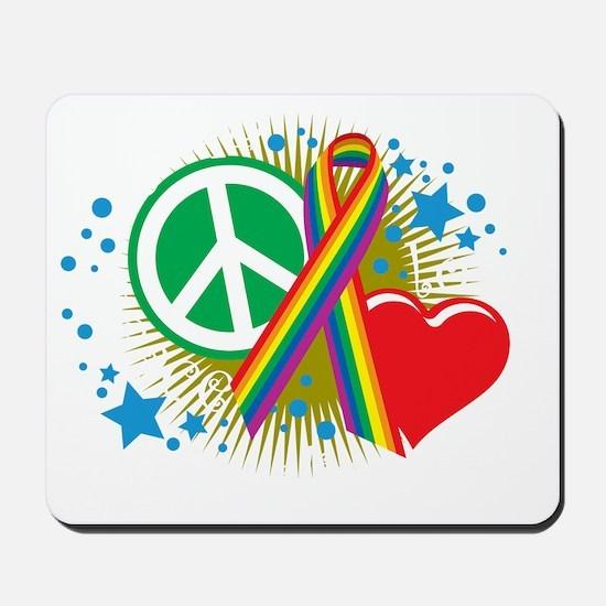 LGBTQIA-PLE-blk Mousepad