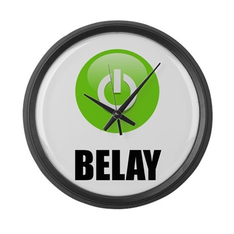 On Belay Large Wall Clock