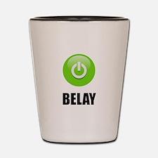 On Belay Shot Glass