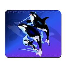 Orca Family-Yardsign Mousepad