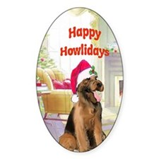 2-airedale card Decal