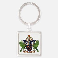 Coat_of_arms_of_saint_lucia Square Keychain