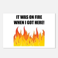 On Fire When Got Here Postcards (Package of 8)