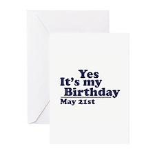 May 21 Birthday Greeting Cards (Pk of 10)