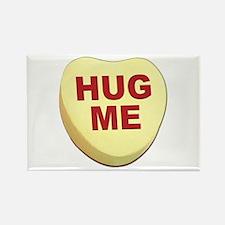 Hug Me Valentine Candy Heart Rectangle Magnet