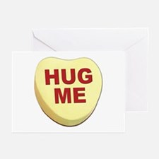 Hug Me Valentine Candy Heart Greeting Cards (Packa
