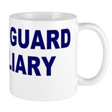 USCGAux-Text-Blue Mug