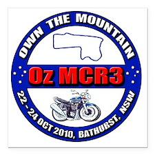 "OzMCR3_BK Square Car Magnet 3"" x 3"""