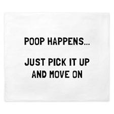 Poop Happens King Duvet