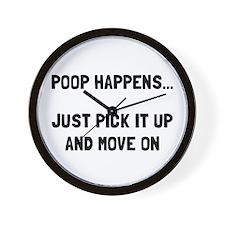 Poop Happens Wall Clock