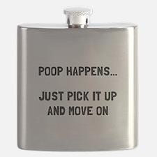 Poop Happens Flask