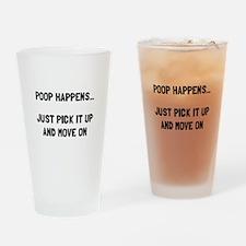 Poop Happens Drinking Glass