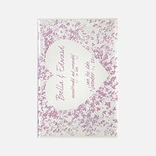 2-purple_vine_postcard Rectangle Magnet