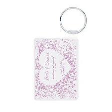 2-purple_vine_postcard Keychains