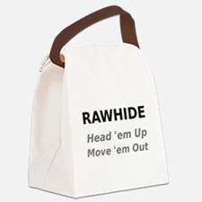 Rawhide Head em up Move em out Canvas Lunch Bag