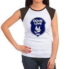 DOVELOVE Women's Cap Sleeve T-Shirt