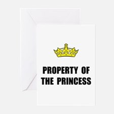 Property Of Princess Greeting Cards