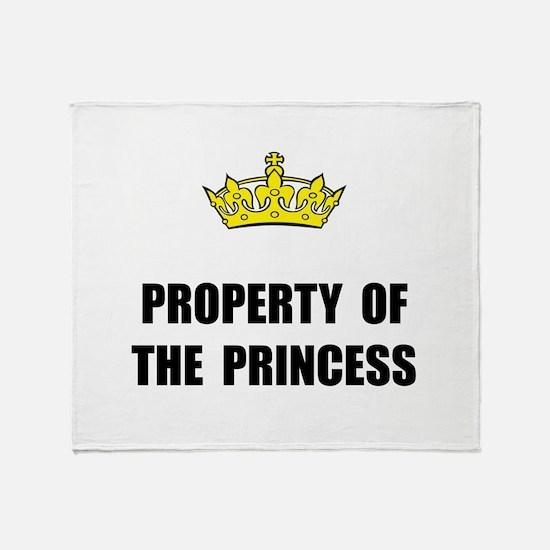 Property Of Princess Throw Blanket