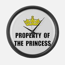 Property Of Princess Large Wall Clock