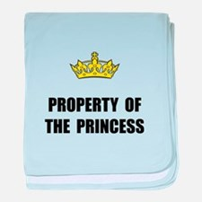 Property Of Princess baby blanket