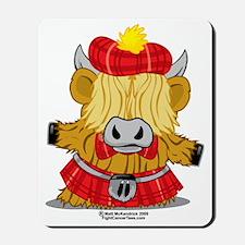 Highland-Cow-Red-Kilt-2009 Mousepad