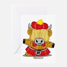 Highland-Cow-Red-Kilt-2009 Greeting Card