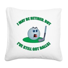 R-Golf-Balls Square Canvas Pillow