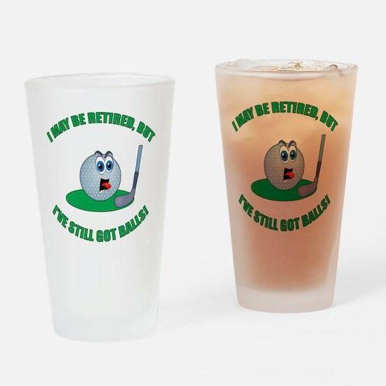 R-Golf-Balls Drinking Glass