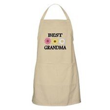 BEST GRANDMA WITH FLOWERS Apron