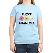 BEST GRANDMA WITH FLOWERS T-Shirt