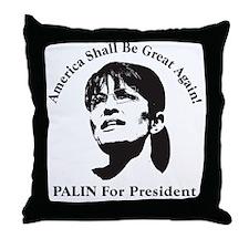 pres_palin Throw Pillow