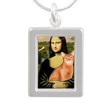 Mona Lisa - Abyssinian ( Silver Portrait Necklace