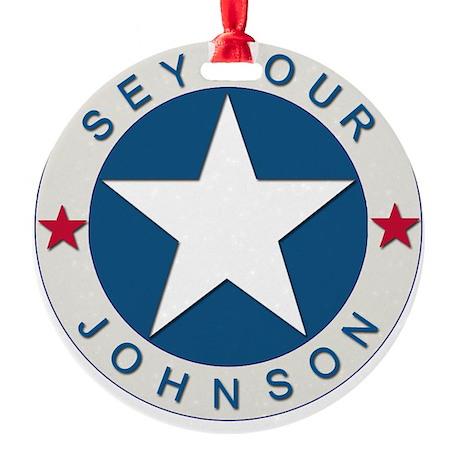 Seymour J_lone star boxer4x6 Round Ornament