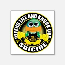 """Knock-Out-Suicide-CIRCLE Square Sticker 3"""" x 3"""""""