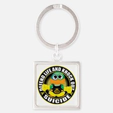 Knock-Out-Suicide-CIRCLE Square Keychain