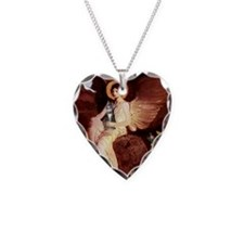 Seated Angel - Grey Tabby 31 Necklace