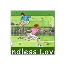 """ENDLESS LOVE mouse pad Square Sticker 3"""" x 3"""""""