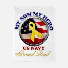 prouddad_navy Twin Duvet