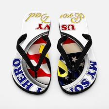prouddad_navy Flip Flops