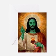 Zombie Jesus Loves Brains Greeting Card