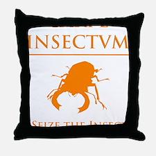 Carpe Insetum D orange 2 Throw Pillow