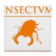 Carpe Insetum D orange 2 Tile Coaster