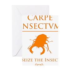 Carpe Insetum D orange 2 Greeting Card