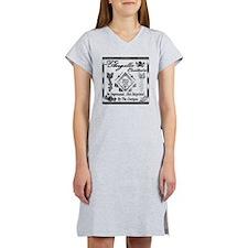 Blk Wht 10 x10 copy Women's Nightshirt