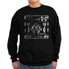Blk Wht 10 x10 copy Sweatshirt