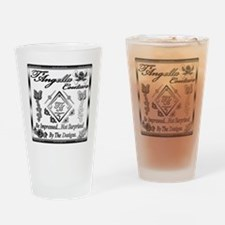 Blk Wht 10 x10 copy Drinking Glass